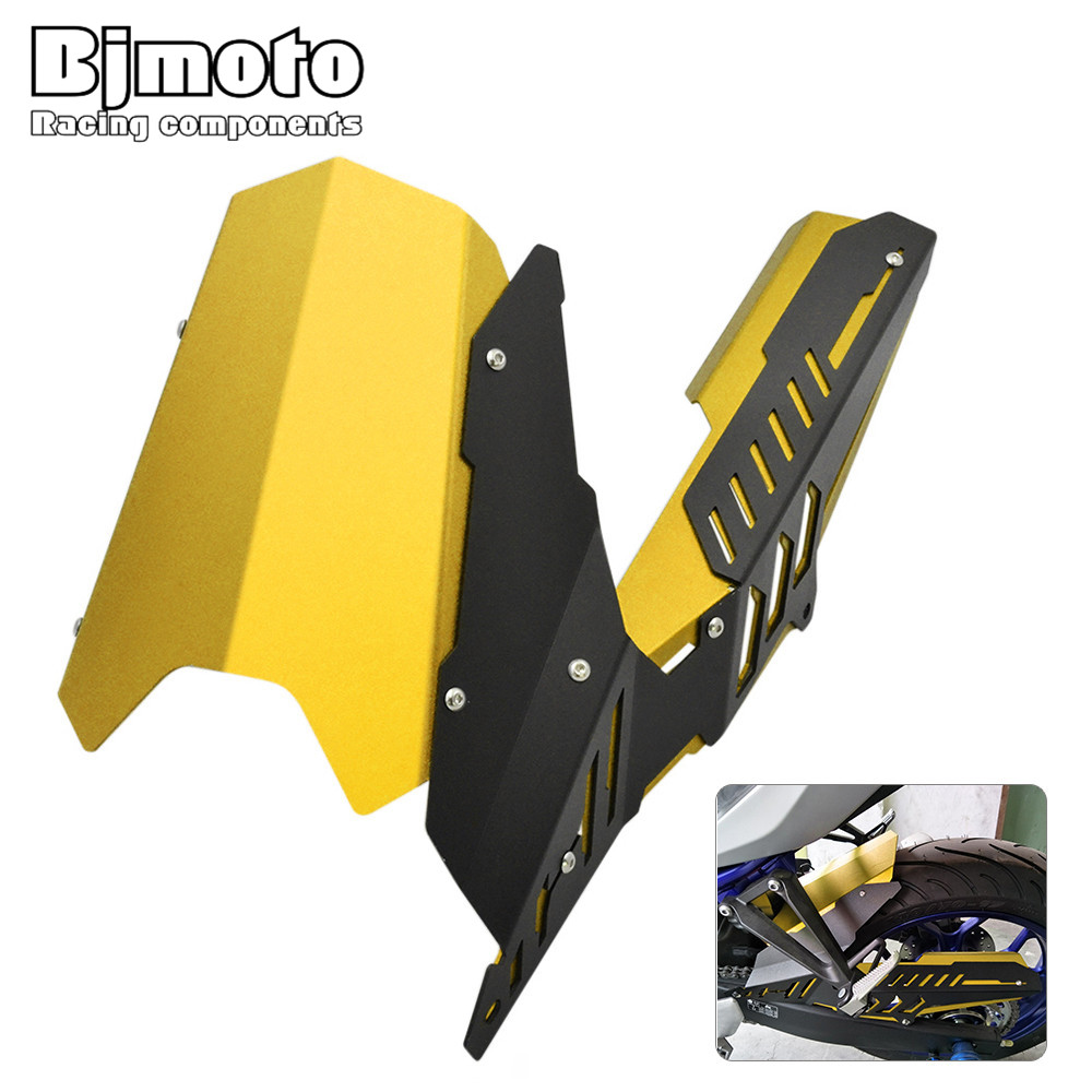 Bjmoto Motorcycle Rear Fender Tire Wheel Plate Mudguard chain cover for Yamaha YZF R25 2013-2017 YZF R3 MT25 MT03 2015-2017 motorcycle cnc aluminum mudguard rear fender bracket license plate holder light for yamaha yzf r25 r3 yzf r25 yzf r3