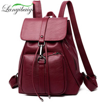 High Quality Women Leather Backpack Sac a dos Fashion Female Backpack String Bags Large Capacity School Bag Mochila Feminina