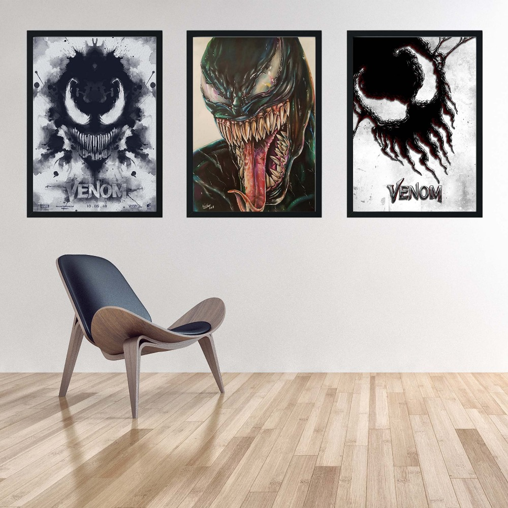 Us 1 74 30 offnew 2018 venom deadly guardian marvel poster canvas painting hero wall art picture for living room home decor k202 in painting