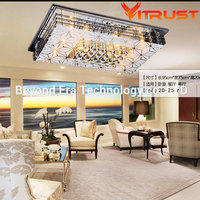 Modern minimalist E14 Light source crystal LED ceiling light LED crystal abajur lamp for living room with remote control