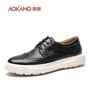 AOKANG men genuine leather sho