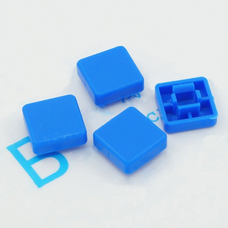 50pcs/lot Square Key Cap 12*12*7.3mm Button Cap Switch Cap 12 * 12 * 7.3 Mm Hat White Blue Red Black Green
