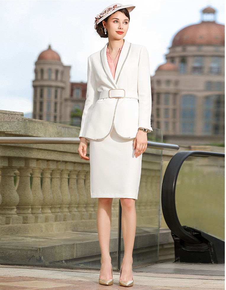 Women Skirt Suits Elegant Office Lady Elegant Blazer Coat Suit Jacket Tops and Skirt Formal Work Wear Two Piece Sets Uniform