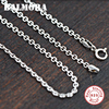 100 Real Pure 925 Sterling Silver Chain For Women Silver 925 Pendant Accessories Best Gift Free