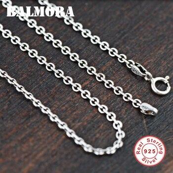 BALMORA 100% リアル 925 スターリングシルバーチェーンチョーカーネックレス男性のためのシルバーアクセサリー 40-50 センチメートルロングタイ Silve のジュエリー JLC002