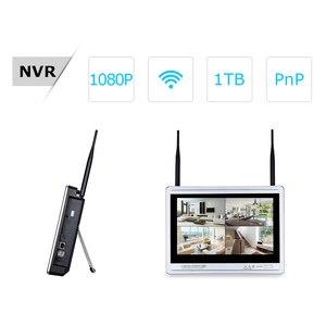 Image 2 - ANRAN 12 Zoll LCD Bildschirm 1080P 4CH WIFI NVR Kit HD 2MP Outdoor WiFi IP Wireless Security Kamera System wasserdichte Video Recorder