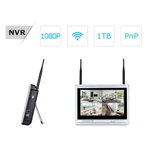 Image 2 - Камера видеонаблюдения ANRAN, водонепроницаемая камера безопасности с 12 дюймовым ЖК экраном, 1080P, 4 канала, Wi Fi, NVR, HD, 2 МП, IP