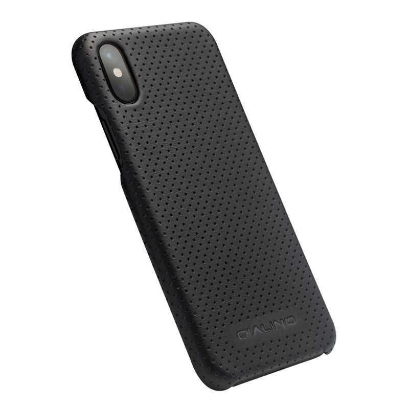 QIALINO Estojo para iPhone X Genuíno Couro De Luxo Tampa Traseira Ultra Fino para o iphone XS Maçã Moda Completa Rígido de Proteção shell