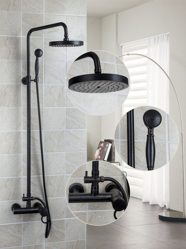 Ouboni Bathroom Rain Shower Faucets Oil Rubbed Bronze Tub Faucet With 7 8 Inch Head Hand In From Home Improvement On