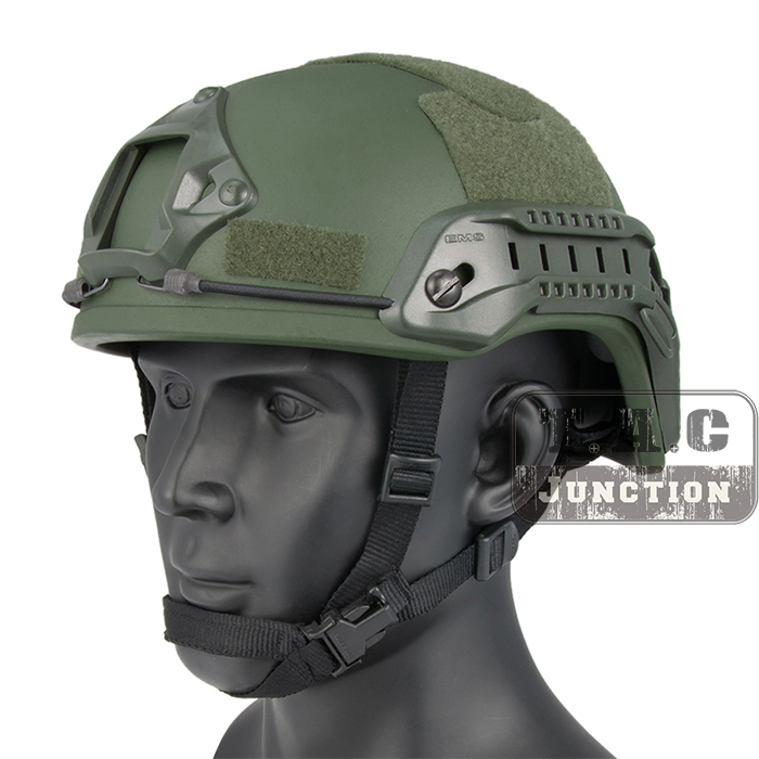 Emerson Tactical ACH ARC MICH 2001 TC-2001 Helmet Advanced EmersonGear Head Protective with NVG Shroud & Side Rail цены