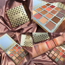 16 Colors Eyeshadow Palette Makeup Cosmetic Diamond Glitter Metallic Pallete Pigmented Professional