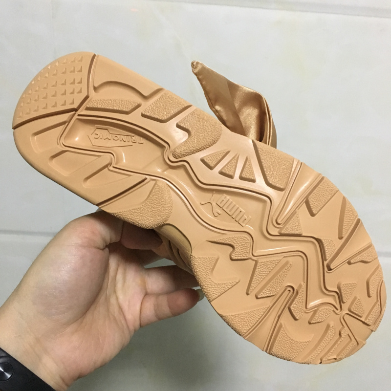 2ae85527d18043 Puma Fenty Women Trinomic Sneakers Badminton shoes Professional Lace up  Silk Bow ties Rihanna sports Shoes For Women-in Badminton Shoes from Sports  ...