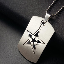 new mens stainless steel star pendant necklaces charms silver color sweater necklaces pendants for women choker fashion jewelry