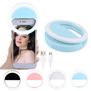 New Arrive USB Charge Selfie Portable Flash Led Camera Phone Photography Ring Light Enhancing Photography for Smartphone