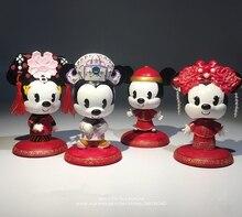 """דיסני מיקי עכבר מיני להתחתן סיני סגנון 7 9 ס""""מ פעולה איור אנימה קישוט אוסף צלמית צעצוע דגם עבור ילדים"""