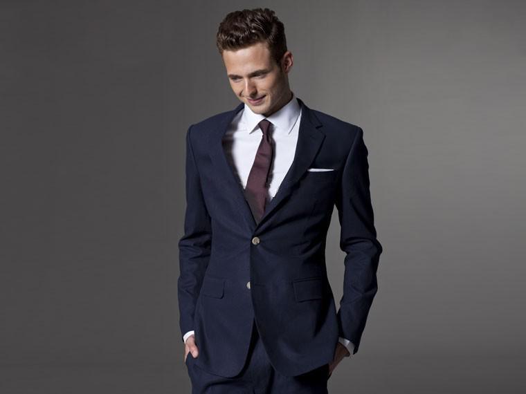 Custom Made Men Suit Tailor Made Suit Bespoke Navy Blue Wedding