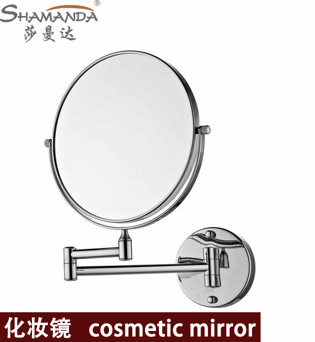 Free Shipping High Quality Solid Brass Chrome Bathroom Cosmetic Mirror In Wall Mounted Mirrors Accessories