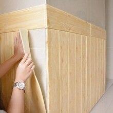 DIY деревянные наклейки для гостиной, 3d кирпичные обои для детской комнаты, спальни, домашний декор, 3d настенное покрытие, самоклеющиеся обои
