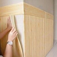 DIY 3D Tapete Selbst Klebe Woodr Korn Wand Aufkleber Weichen Paket Kindergarten Wände Dekoration Wasserdichte Schaum Wand Aufkleber