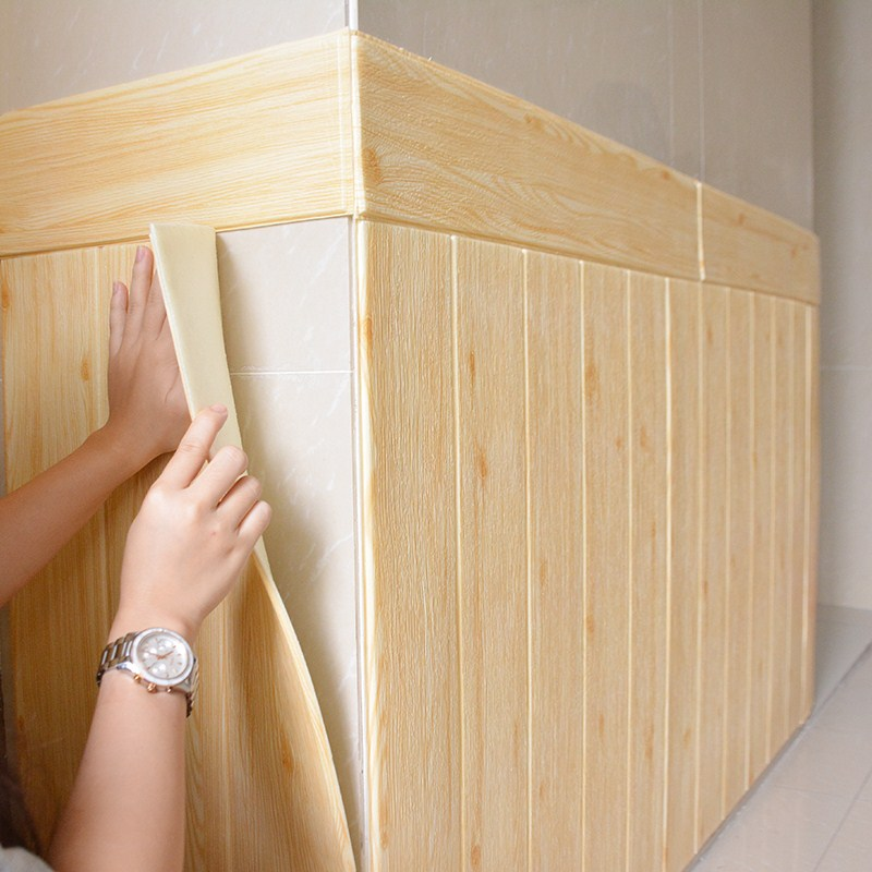 DIY Wood Grain Stickers Living Room 3d Brick Wallpaper For Kids Room Bedroom Home Decor 3d Wall Covering Self Adhesive Wallpaper