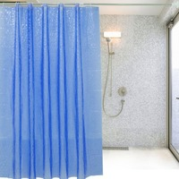 180 180cm 3D Translucence Waterproof Thicken Plaid Resists Mold Bathing Shower Bathroom Curtain With Plastic Hooks