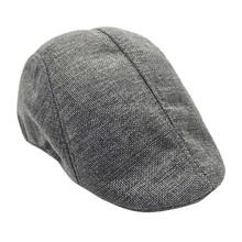 2019 jesień zima czapka męska czapki berety w stylu zachodnim zaawansowane płaska czapka klasyczny w stylu Vintage w paski Beret czapka Dropship Z0325 tanie tanio Poliester Dla dorosłych Unisex Na co dzień Stałe 20190325 JAYCOSIN Polyester Berets Casual Adjustable Solid China Adult
