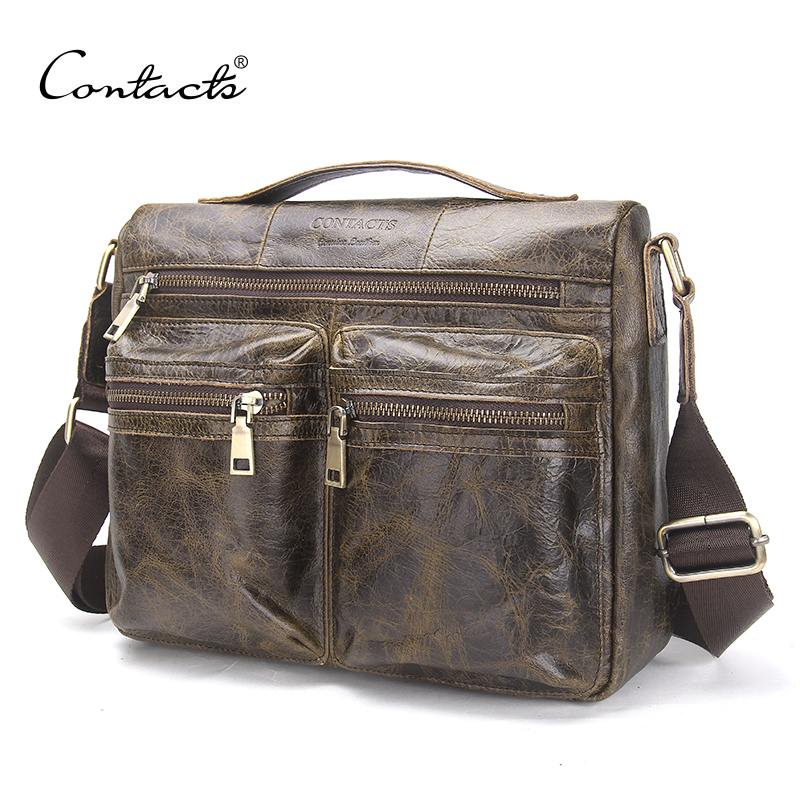 CONTACT'S 2017 Spring New Arrival Men's Messenger Bags For Men Crossbody Bag Kha