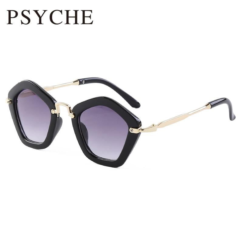 Wholesale 2pcs/lot Kids Cat Eye Sunglasses Children New 6 Color Dazzling Sun Glasses Boys Girls Cute Baby Buffalo Horn Infantil
