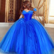 Cinderella Quinceanera Dresses Masquerade Sweet 16 Ball Gown 15 Birthday Butterfly Royal Blue 2016