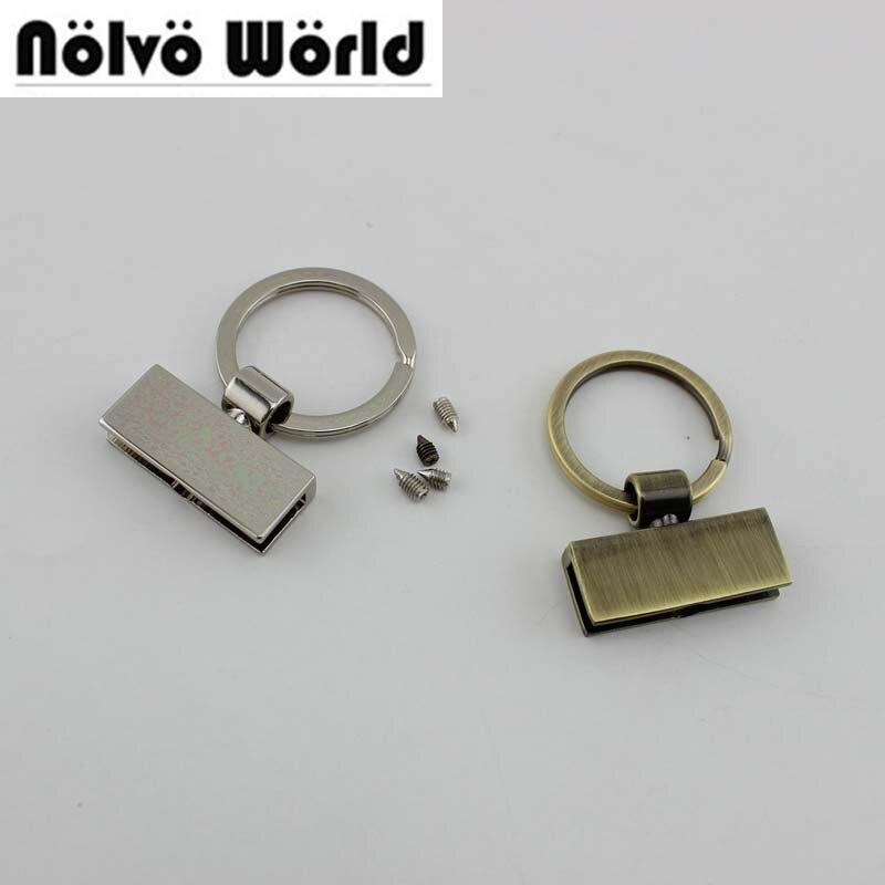 10pcs 5 Colors 45X30mm T-shape Key Fob With 24mm Split Key Rings,Key Fob Hardware Keychain Accessories Key Fob