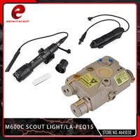 Element Airsoft 3PCS LA PEQ15 Red Dot IR Laser PEQ 15 Surefir M600C Weapon Tactical Scout Light Augmented Double Pressure Switch