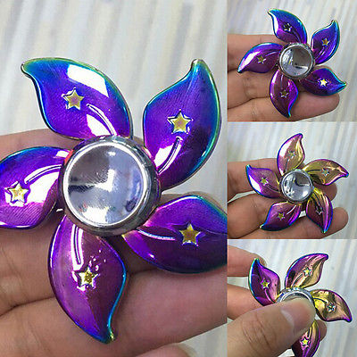 Newest Pudcoco Genji Fidget Hand Spinner Triangle Metal Finger Focus Toy EDC ADHD Autism
