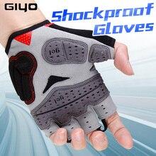 Letnie rękawiczki rowerowe GIYO Gel Half Finger odporne na wstrząsy sportowe rękawice gimnastyczne MTB górskie rowerowe rękawice rowerowe dla mężczyzn/kobiet antil skip
