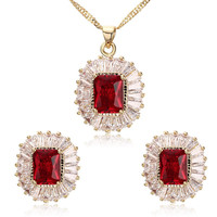 Yellow Fashion Jewelry Sets for Women Necklace+Earrings Costume Jewelry Sets