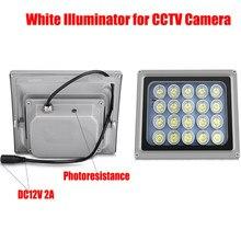 NOVOXY-20 piezas de luz de relleno para cámara CCTV, reflector LED de alta potencia, color blanco
