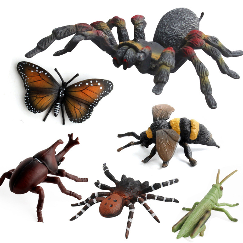 12 Kidns Simulation Insect Figure Collectible Toys Solid  Insect Animal Action Figures Kids Animal Sandtable Scene Toys