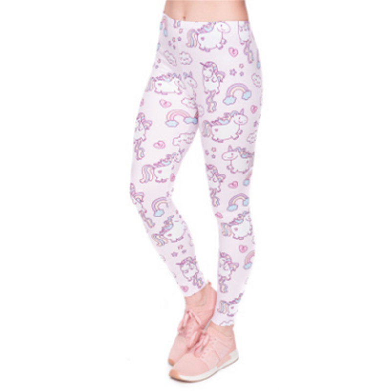 Bigsweety Kawaii Unicorn Print   Leggings   For Women Fitness   Leggings   Stretch Leggins Female New Spring Autumn Legins   Legging