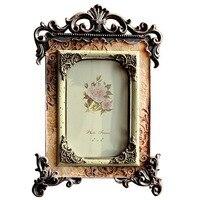 Giftgarden Europeo Retro 4x6 Foto Cornice di Nozze Retrato Vintage Photo Frames con Specchio di Vetro/Anteriore