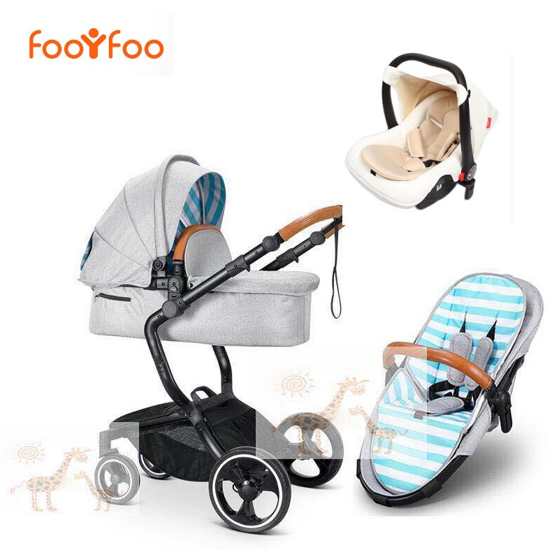 foofoo Luxury high landscape shock strollers can sit reclining stroller baby stroller two-way dual summer with car seet free del baby strollers high landscape lightweight aluminum can sit reclining stroller shock absorbers bi fold trolley baby kinderwagen