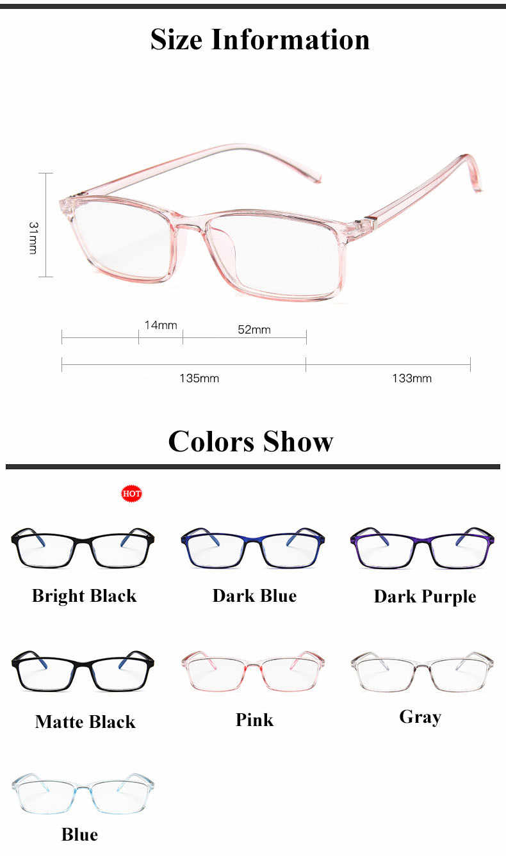 Anti Light okulary Ray Blue Fashion Anti Blue ochrona przed zmęczeniem blokowanie gogle Eye Square Radiation Computer 2019 nowość