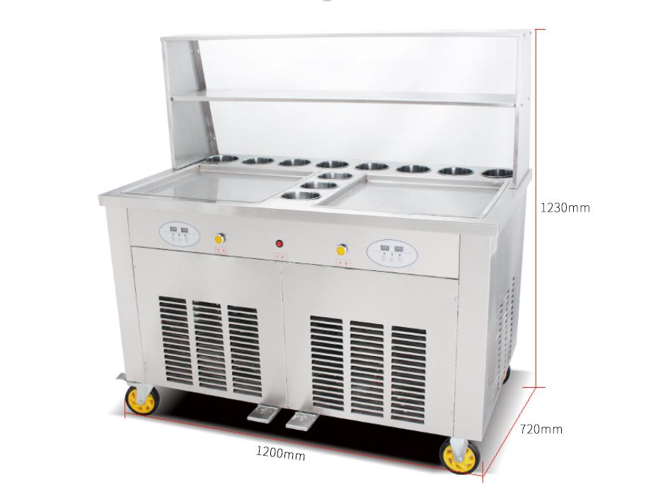 Commercial Fruits Thailand Rolling Fried Fry Ice Cream Machine In Snack Machines