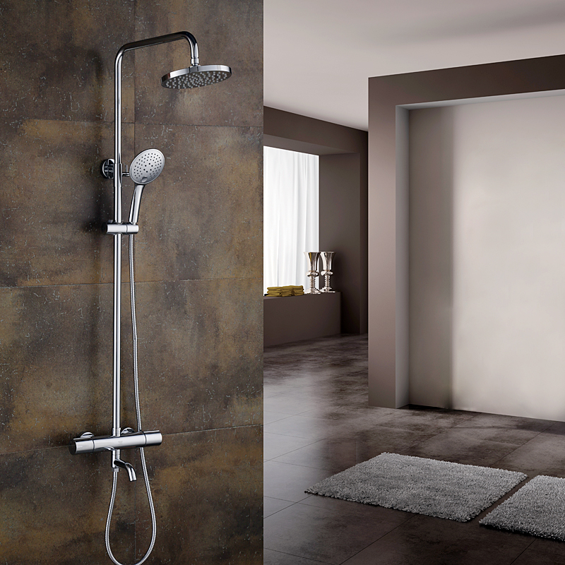 buy full copper 38 degrees german grohe rotatable side bar shower head faucet ensemble chrome mixer free shipping from