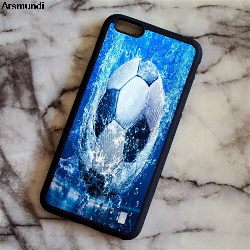 Arsmundi Cool Soccer Football Phone Cases for iPhone 4S 5C 5S 6 6S 7 8 Plus X for Samsung S9 NOTE Case Soft TPU Rubber Silicone