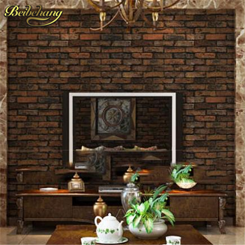 beibehang stone brick wall vinyl wallpaper roll bedroom living room background paper papel de parede 3d wallpaper for walls 3 d beibehang stone brick 3d wallpaper roll modern vintage wall paper pvc vinyl wall covering for bedroom live room tv background