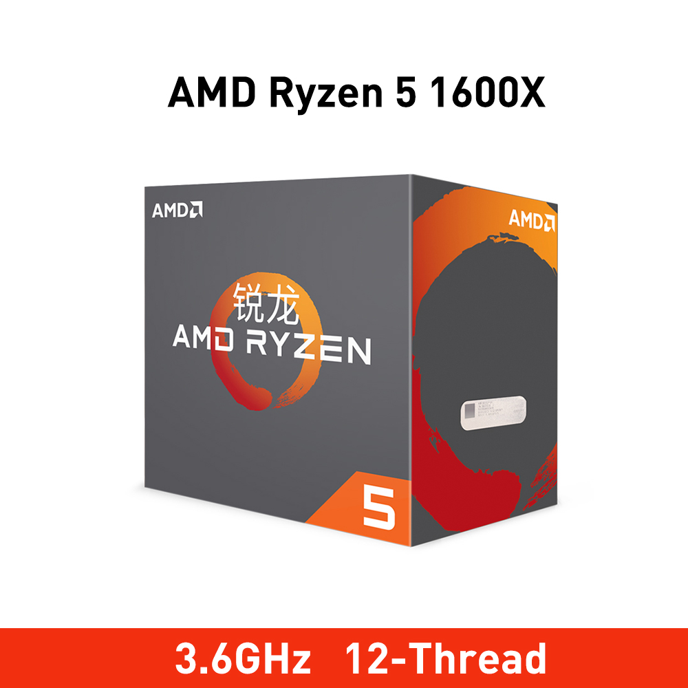 New amd ryzen 5 1600 x cpu 3.6GHz Six Core Twelve Thread 95W processador Socket AM4 Desktop Processor with seal new original box-in CPUs from Computer & Office    1