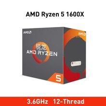 Nieuwe amd ryzen 5 1600 x cpu 3.6GHz Zes Core Twaalf Draad 95W processador Socket AM4 desktop Processor met seal nieuwe originele doos
