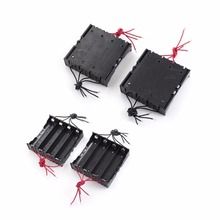 60pcs/lot MasterFire New Battery Box Holder For 4 x 18650 Black With Wire Leads Plastic Batteries Storage Case Cover new plastic 18650 battery case holder storage box with wire leads for 18650 batteries 3 7v black