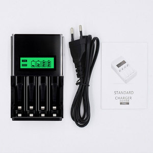 Image 3 - PALO 4 sloty wyświetlacz LCD inteligentna ładowarka do akumulatora do 1.2V AA akumulator aaa NI MH NI CD bateria z wtyczką ue AU US UK