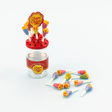 Lovely 1:12 Dollhouse Miniature Simulation Food Mini Lollipop With Case Holder for Children Kids Bir