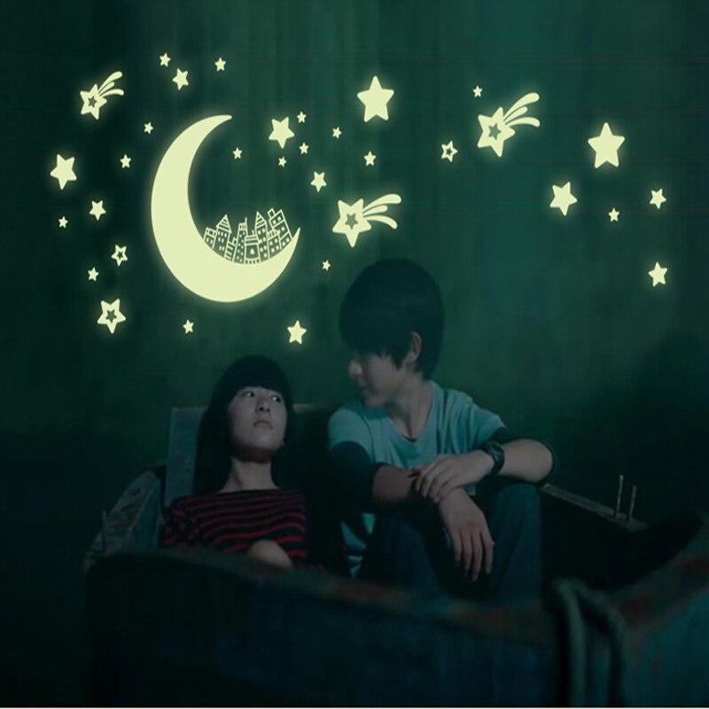 Aliexpress Com Buy Glow In The Dark Home Decor Wall Sticker